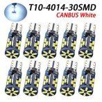 12-24V Canbus T10-4014-30SMD - fehér - 10db