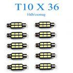 10db/csomag 6SMD LED SMD-10X36-6SMD  Szofita