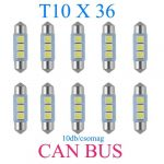10db/csomag CANBUS 3SMD LED SMD-CD36mm-3SMD Szofita