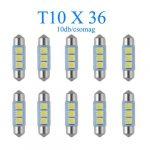 10db/csomag 3SMD LED 36mm-es Szofita SMD-10X36CS-3SMD