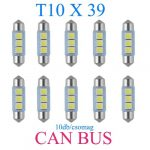 10db/csomag CANBUS 3SMD LED SMD-CD39mm-3SMD Szofita