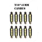 CAN-BUS 3SMD LED Szofita hűtőbordás 41mm - LA513C-41CS - 10db
