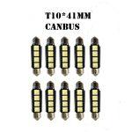 CAN-BUS 3SMD LED Szofita hűtőbordás 41mm 10db/csomag - LA513C-41CS