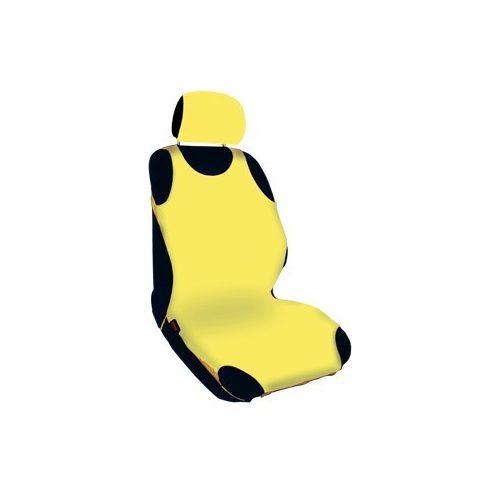 Trikó üléshuzat fejtámla huzatokkal,  hagyományos, sárga - párban