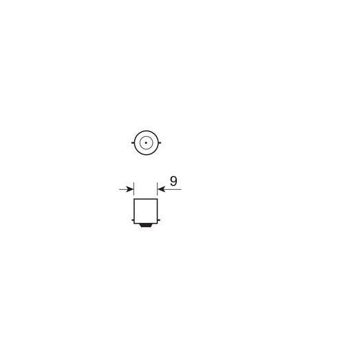 Lampa 6-12V BA9S 2 SMD, fehér színű, - párban