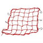 """Lampa """"Spider"""" - elasztikus csomagleszorító háló - 42x42cm - piros"""