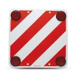 Bottari - prizmás tábla, univerzális, 50x50cm, piros-fehér csíkos