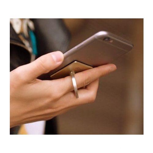 Telefon gyűrű autós tartóval - arany színű - SMP IRA
