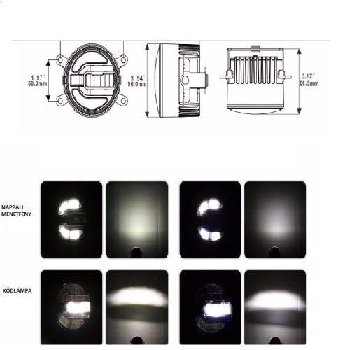 Nappali LED menetfény és ködlámpa - SMP DRL 201 - párban