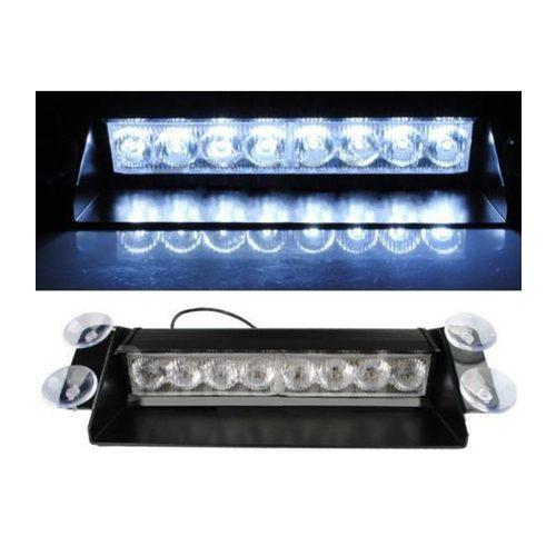 8 LED-es szélvédő stroboszkóp fehér - SMP 132-1W