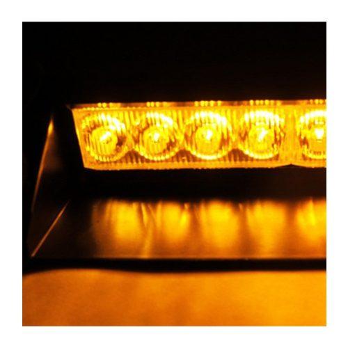 8 LED-es szélvédő stroboszkóp borostyánsárga - SMP 132-1A