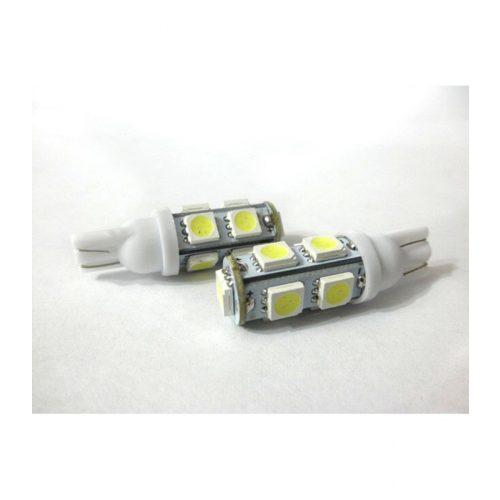 9 LED-es dióda T10 foglalathoz fehér - Exod T10x95050 SMD W