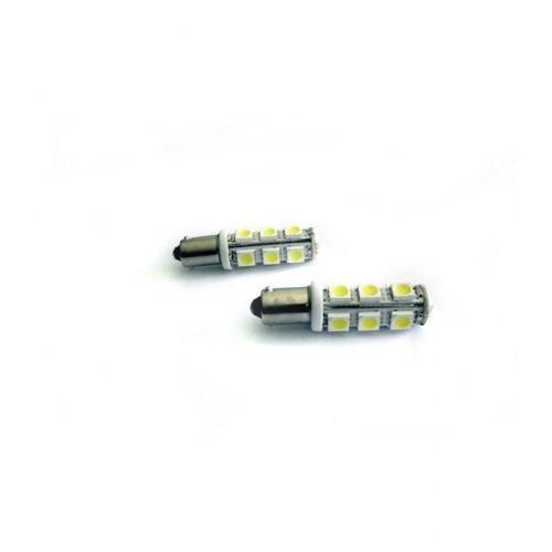13 LED-es dióda bajonett foglalathoz 45mm fehér - Exod BA9S 13SMD W