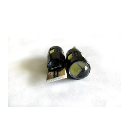 LED dióda T10 foglalathoz 12V fehér - Exod T10x6 5630 Can-bus WR LED