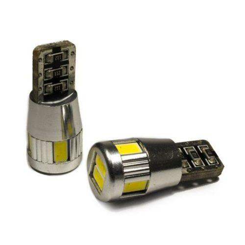 LED dióda T10 foglalathoz 3W fehér - Exod T10x6 5630 Can-bus WL LED