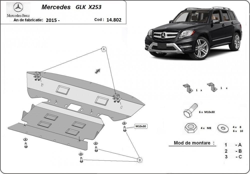 Mercedes GLK X253, 2015-2018 - Motorvédő lemez