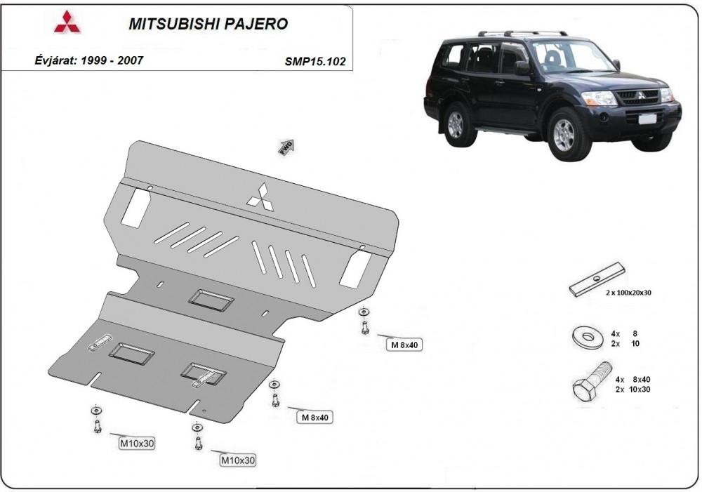 Mitsubishi Pajero III VER2, 1999-2007 - Motorvédő lemez