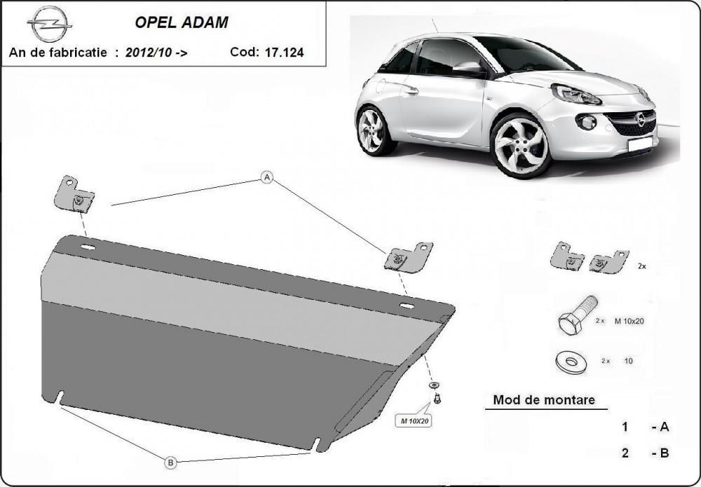 Opel Adam, 2012-2020 - Motorvédő lemez