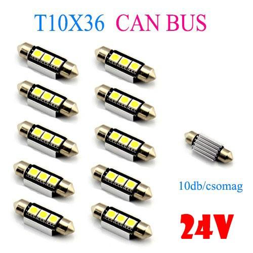 CANBUS 3SMD LED 24V 10db-os Szofita hűtőbordás - LA513C-36CS
