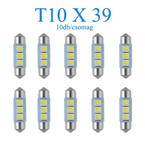 Image of 10db/csomag 3SMD LED 39mm-es Szofita SMD-10X39CS-3SMD