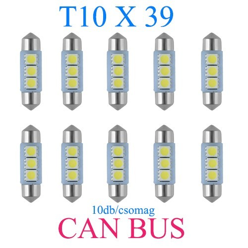 Image of 10db/csomag CANBUS 3SMD LED SMD-CD39mm-3SMD Szofita